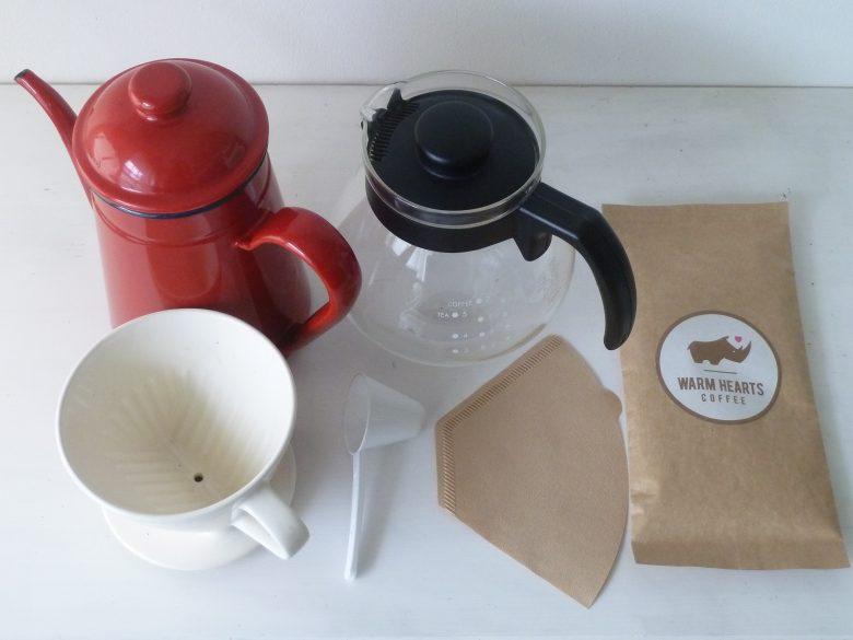 コーヒーを淹れる道具