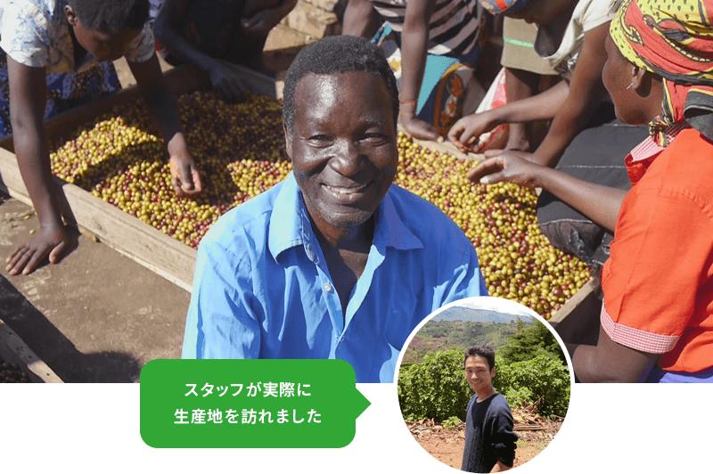 アフリカ・マラウイのコーヒー生産地